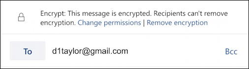 outlook email - message is encrypted