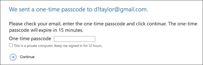 outlook encrypted email message - enter one time passcode