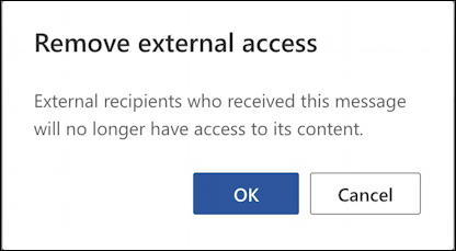 outlook encrypted email message - remove external access