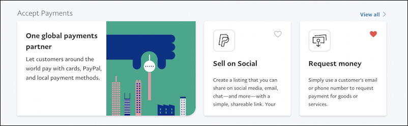 paypal accept payments - sell on social
