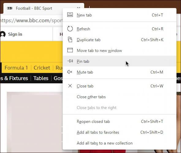 right click microsoft edge tab