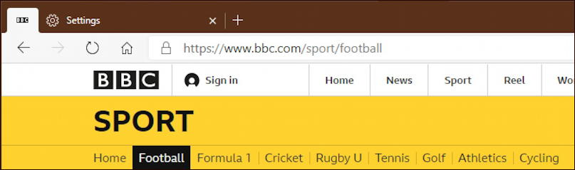 microsoft edge pinned tab - bbc news sports soccer