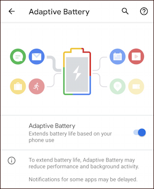 google pixel 5 - battery share - adaptive battery