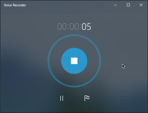 win10 voice recorder - recording 0:05