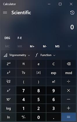 win10 pc calculator app program - scientific calculator