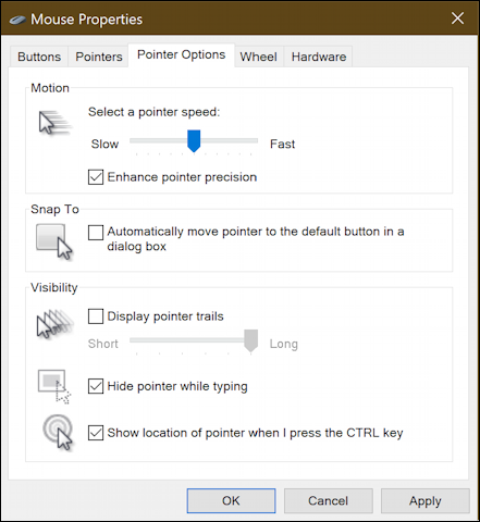 old windows mouse settings options preferences - pointers