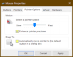 windows pc mouse settings sensitivity preferences adjustment pc