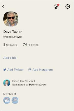 clubhouse app set profile - empty profile