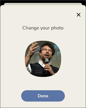 clubhouse app set profile - new picture photo portrait