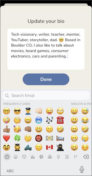 clubhouse app set profile - dave taylor bio