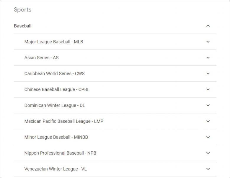 google calendar - subscribe - baseball league calendars