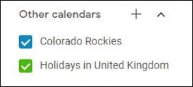 external subscribed calendars in google calendar