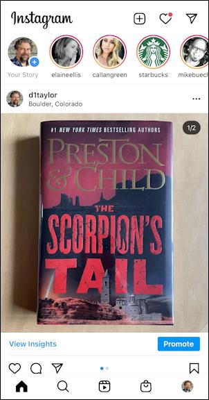 instagram iphone - photo album gallery preston child the scorpion's tail book cover