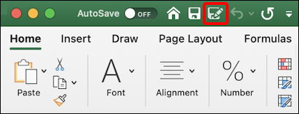 microsoft excel for mac - save as button icon