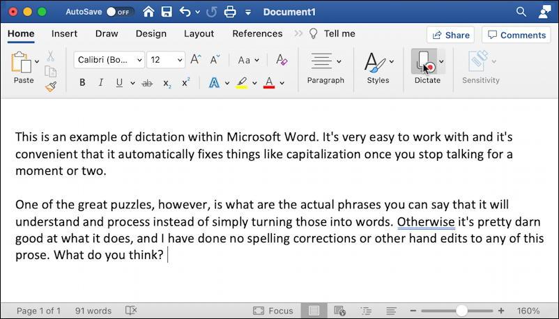 microsoft word for mac - final document