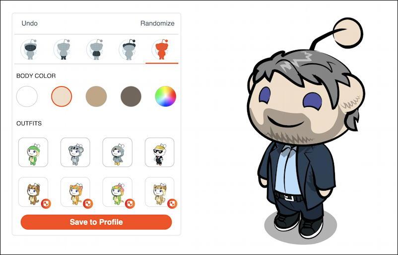 my reddit snoo avatar ready to save