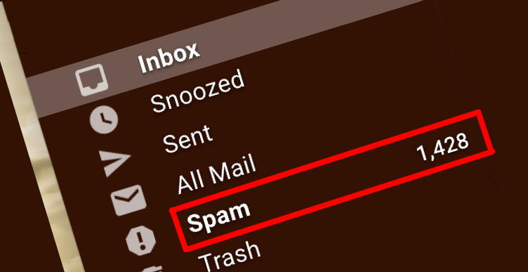 email spam folder 1500 messages