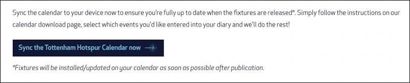 tottenham hotspur premier league soccer football team calendar subscribe