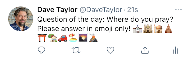 twitter.com web interface - emoji keyboard - posted iphone ios12