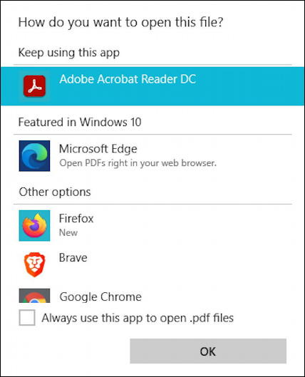 windows 10 win10 pc - password protect encrypt pdf - open with