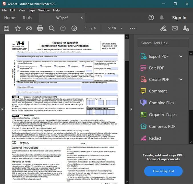 windows 10 win10 pc - password protect encrypt pdf - w9 tax form adobe acrobat pro