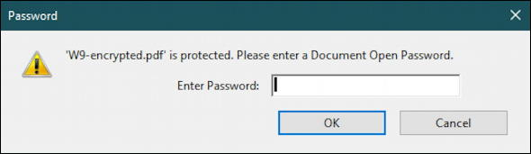windows 10 win10 pc - password protect pdf encrypt - password prompt
