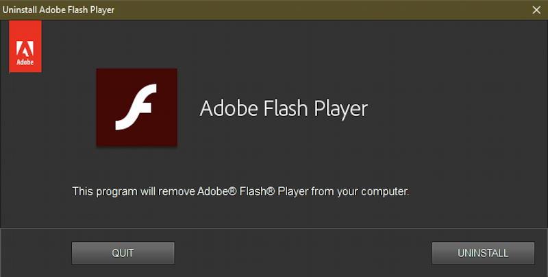 windows adobe flash - safely uninstall - uninstaller