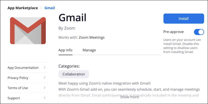 zoom for gmail add-on plugin extension