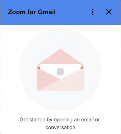 zoom for gmail - ready to start
