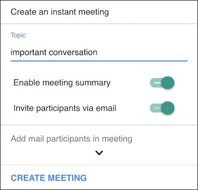 zoom for gmail - set up configuration zoom meeting