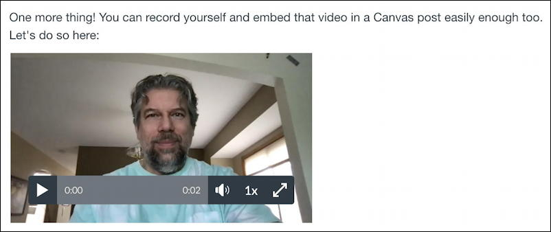 canvas lms rce editor - embedded webcam recording video movie