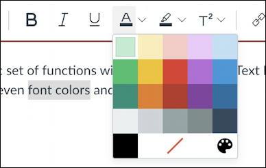 canvas lms rce editor - choose font color