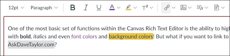 canvas lms rce editor - background color