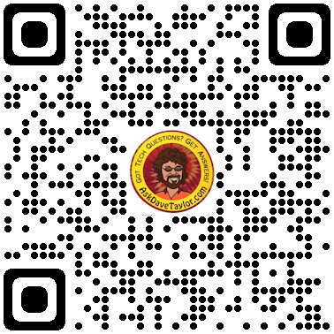 ask dave taylor home page qr code