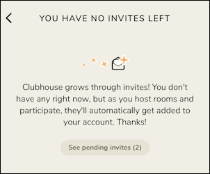invite someone to clubhouse how to - no invites left