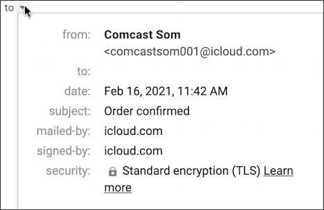scam spam email sender recipient