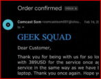 geeksquad order confirmed email scam spam