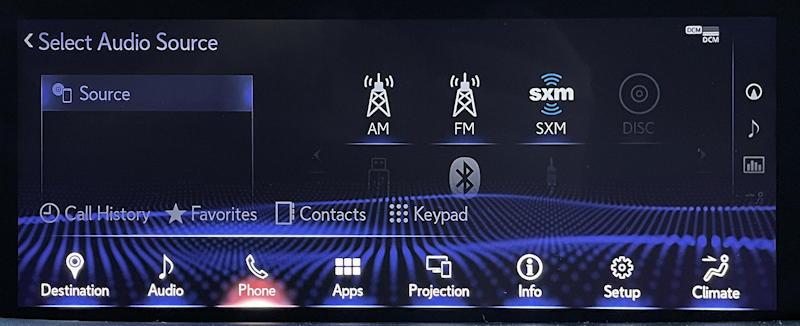 lexus infotainment system: pair bluetooth phone - 1
