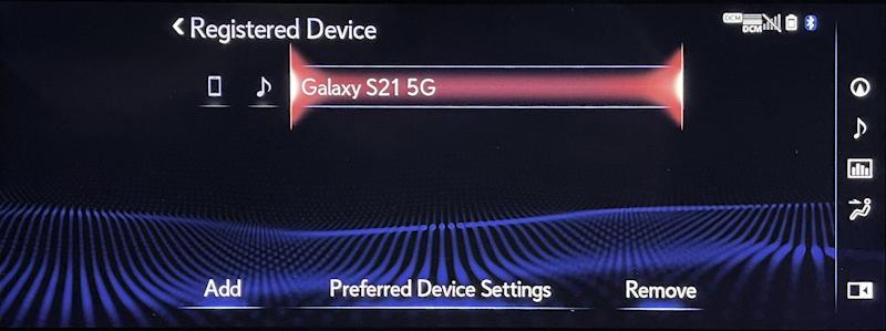 lexus infotainment system: pair bluetooth phone - unpair
