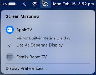 vlc videolan apple macos airplay - control center - mirroring