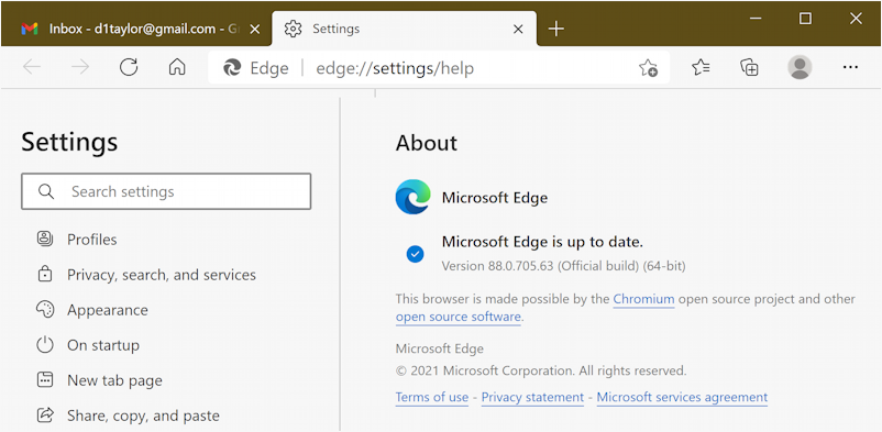 latest version new microsoft edge windows win10