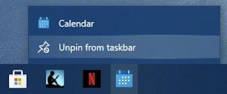 how to delete win10 taskbar shortcut