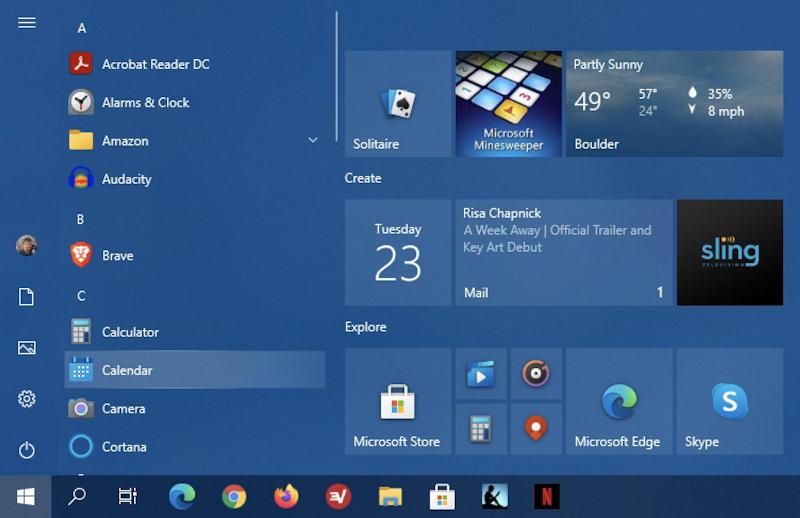 win10 create desktop shortcut - find on start menu