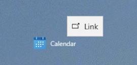 win10 create desktop shortcut - drag to desktop