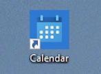 win10 create desktop shortcut - created calendar