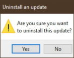 how to uninstall system update patch windows 10 win10
