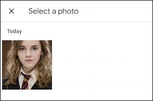 phone contact for hermione granger - android - pic photo from library