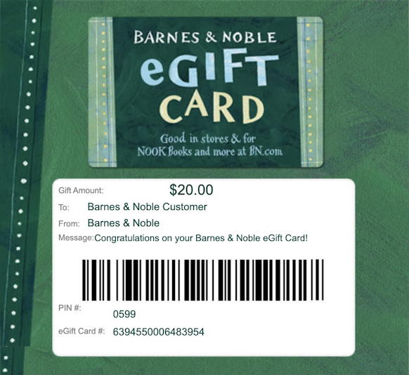 barnes and noble - egift card gift email