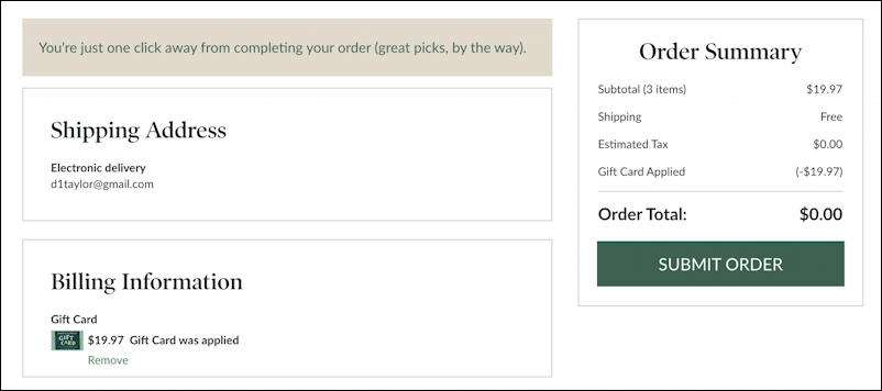 barnes and noble - checkout with gift card