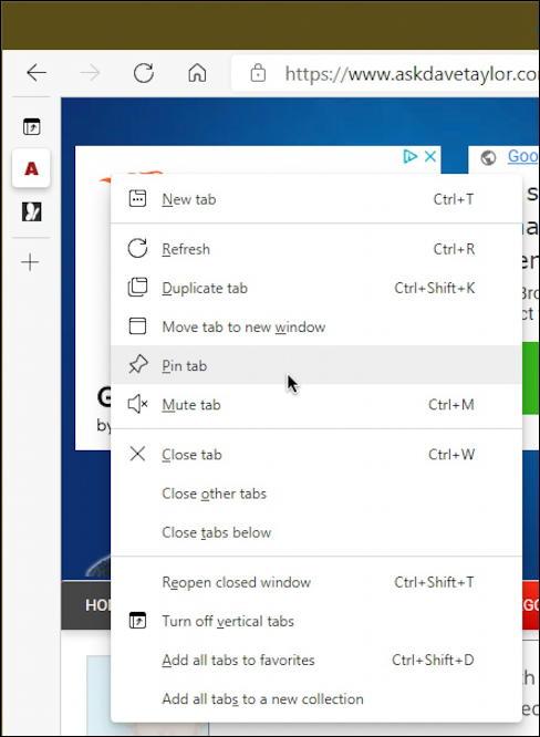 microsoft edge vertical tabs - vertical tab menu